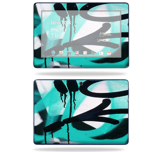 Mightyskins Protective Skin Decal Cover for Asus Transformer TF300 10.1 inch screen tablet stickers skins Graffiti Tagz