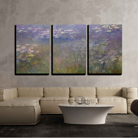 wall26 - Water Lilies by Claude Monet - Canvas Art Wall Decor - 16