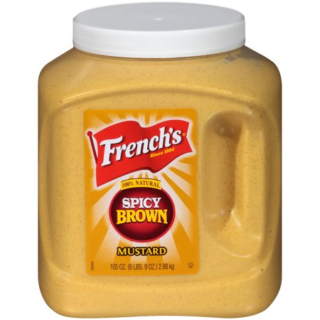 French's Spicy Brown Mustard, 105 oz