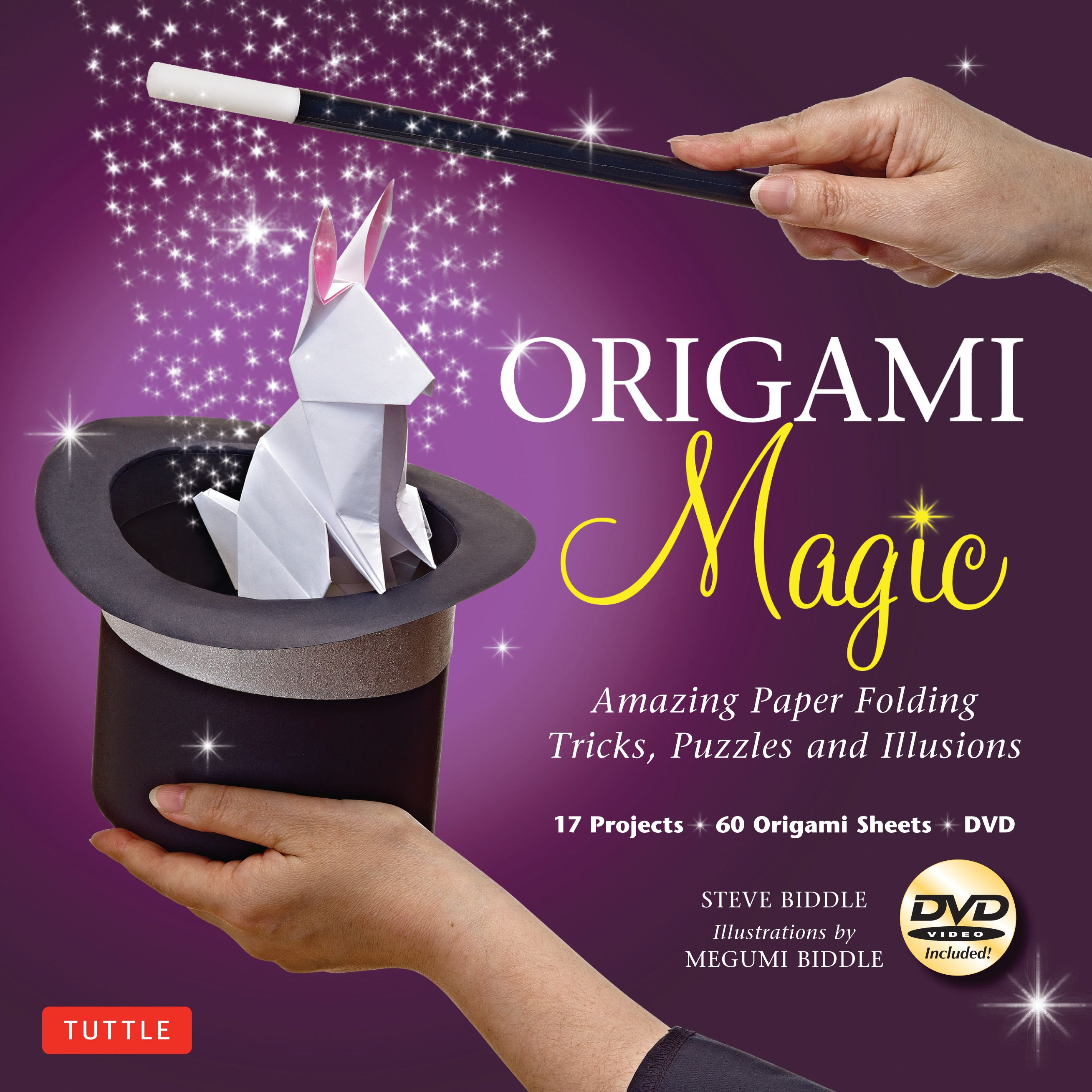 Origami Magic Kit : Amazing Paper Folding Tricks, Puzzles and Illusions: Kit with Origami Book, 17 Projects, 60 Origami Papers and DVD