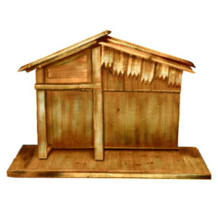 30 Wooden Religious Christmas Nativity Stable