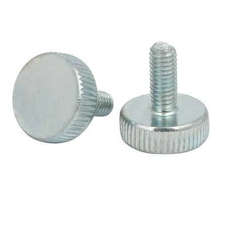 M5x12mm Knurled Head Flat Point Fully Threaded Thumb Screws Fastener 15pcs - image 1 of 2