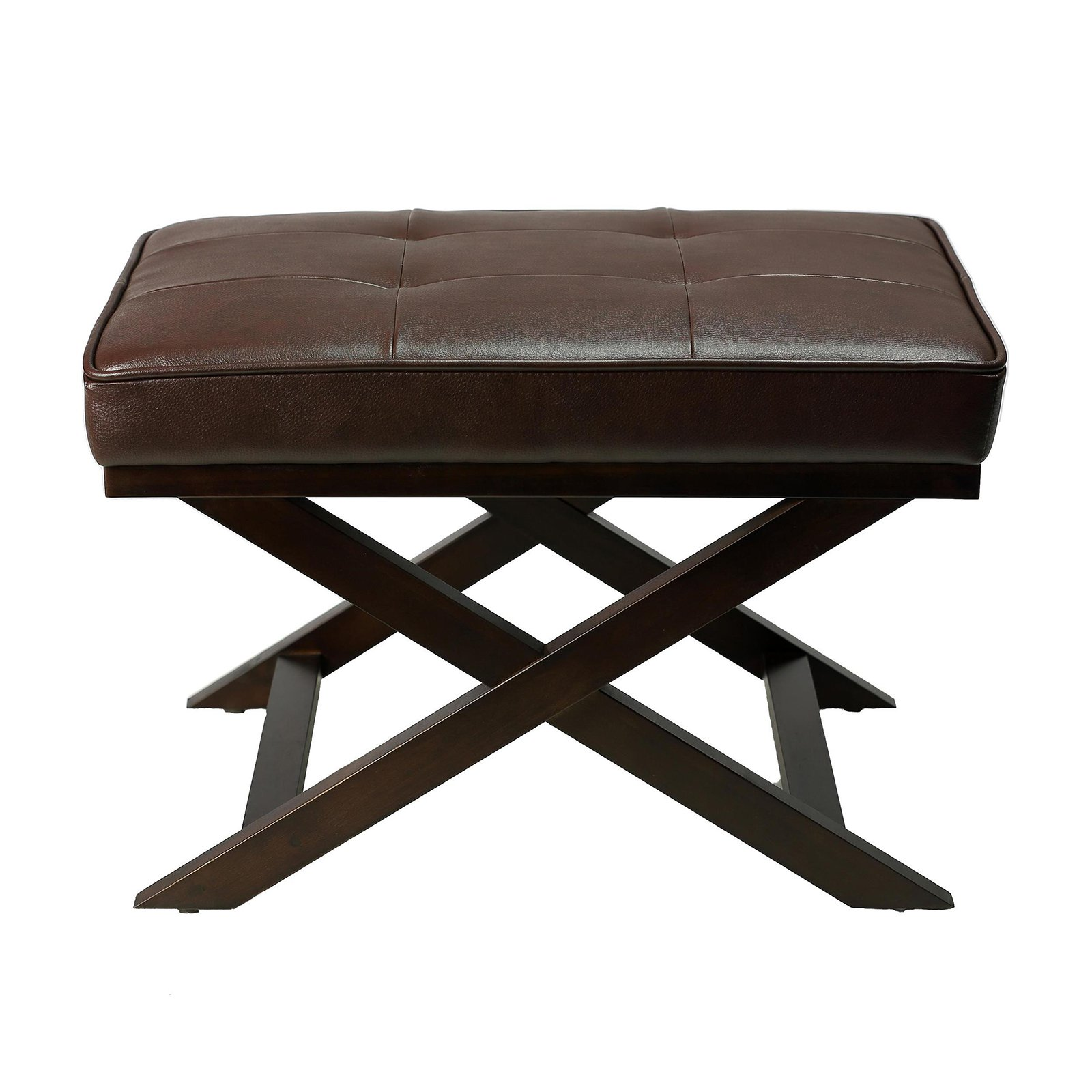 Cortesi Home Ari Leather X Ottoman