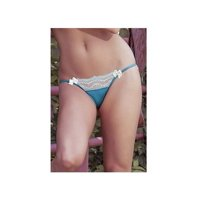 Queen Spring Blossom Panty S4036X Blue One Size Fits All - Queen, One Size Fits All - Queen