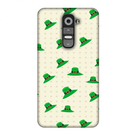 LG G2 D802 Case, Premium Handcrafted Printed Designer Hard Snap on Shell Case Back Cover with Screen Cleaning Kit for LG G2 D802 - Irish Hats - Green