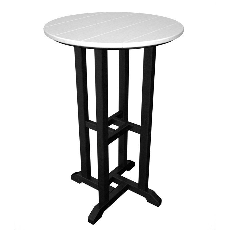 POLYWOOD® Contempo 24 in. Round Counter Height Table Frame