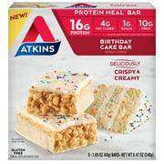 Atkins Birthday Cake Bar, 1.69 oz, 5-pack (Meal Bar)