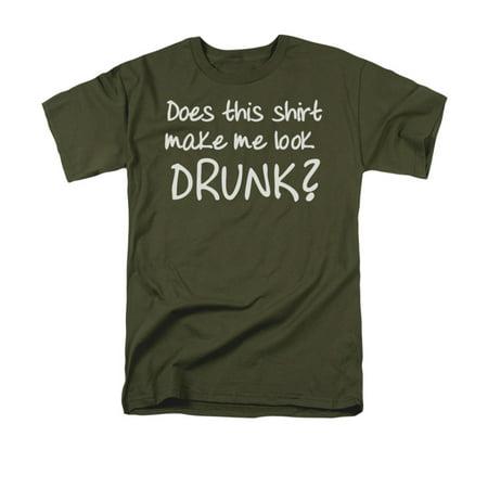 Does This Shirt Make Me Look Drunk Humorous Funny Saying Adult T-Shirt Tee - Humorous Halloween Tombstone Sayings