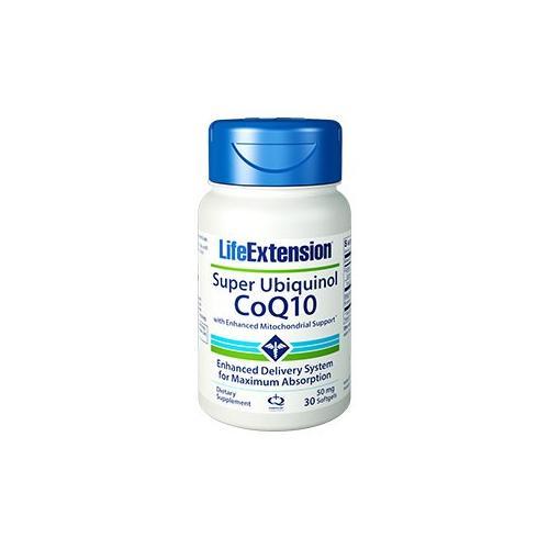 Super Ubiquinol CoQ10 with Enhanced Mitochondrial Support 50mg Life Extension 30 Softgel