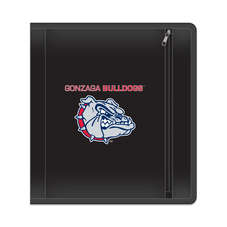 "NCAA Gonzaga Bulldogs Zippered 3 Ring Binder, 250 Sheet Capacity, 1.625"" Metal Rings"