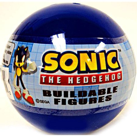 Gacha Buildable Figures Sonic The Hedgehog Mini Figure  Blue Bubble