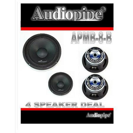 (4) AUDIOPIPE APMB-8-B 8