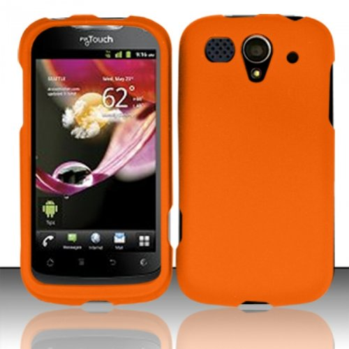Hard Rubberized Case for Huawei myTouch U8680 - Orange