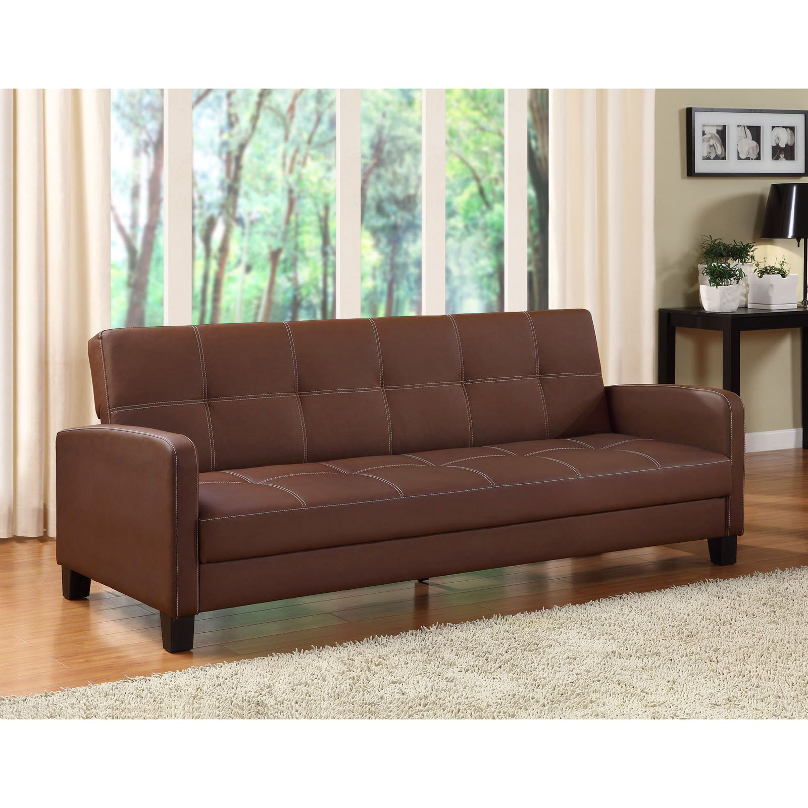 DHP Delaney Futon Couch Sofa Sleeper, Multiple Colors by Dorel Home Products