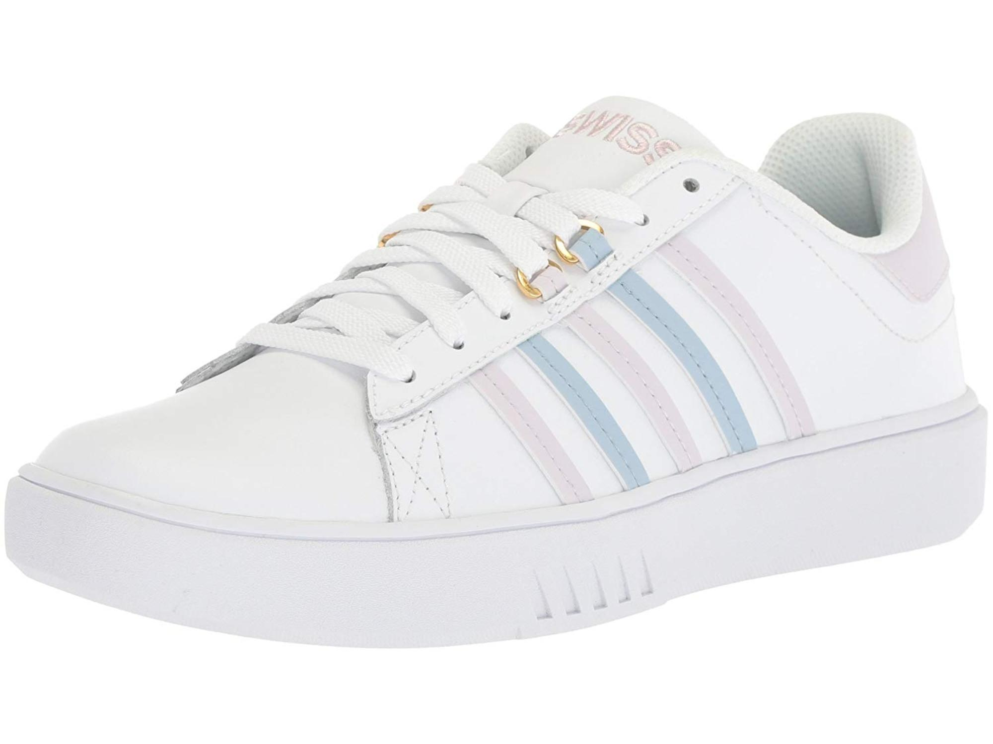 d0a48b0898f68 K-Swiss Women's Pershing Court CMF Sneaker, White, Size 6.0