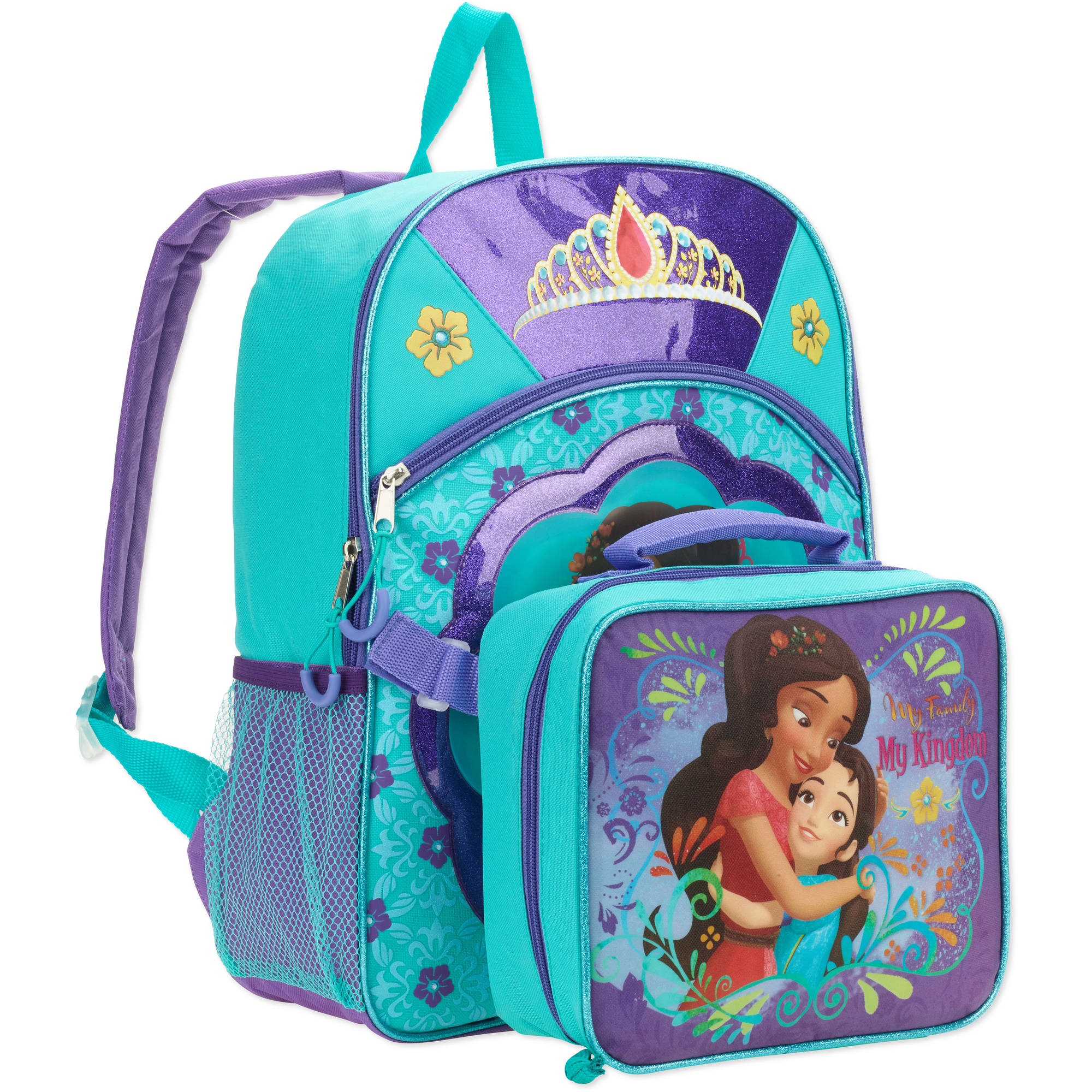 "16"" Disney Princess Elena Full Size Backpack w/ Detachable Lunch Bag"
