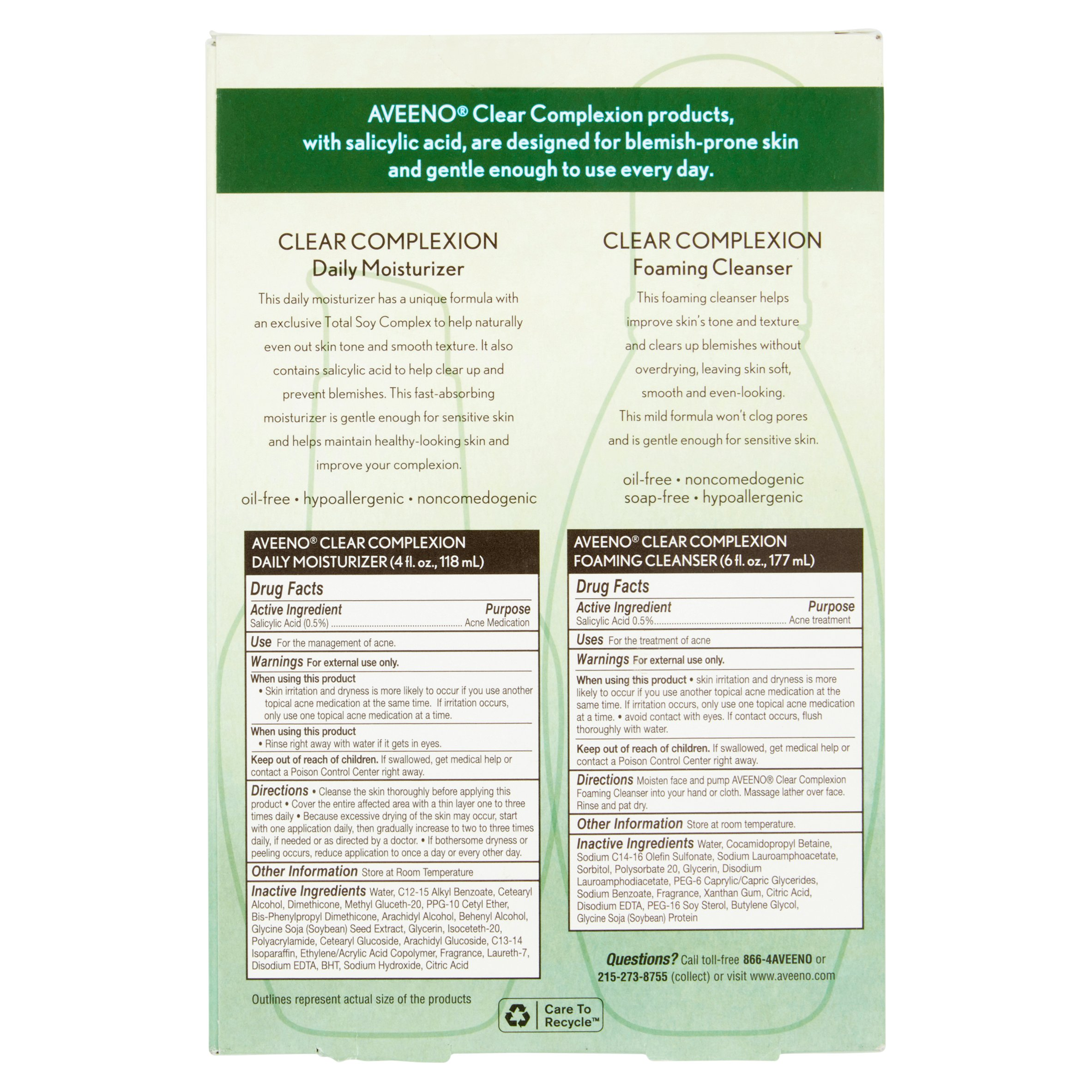 Aveeno Favorites Salicylic Acid Blemish Treatment Special Value Full Size Nia 24 Physical Cleansing Scrub, 3.75 fl. oz.
