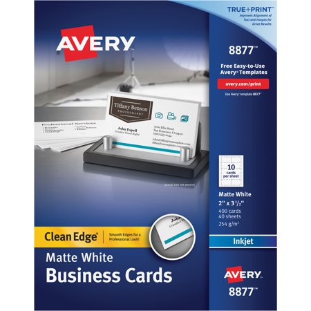 Avery True Print Clean Edge Business Cards Inkjet 2 X 3 1