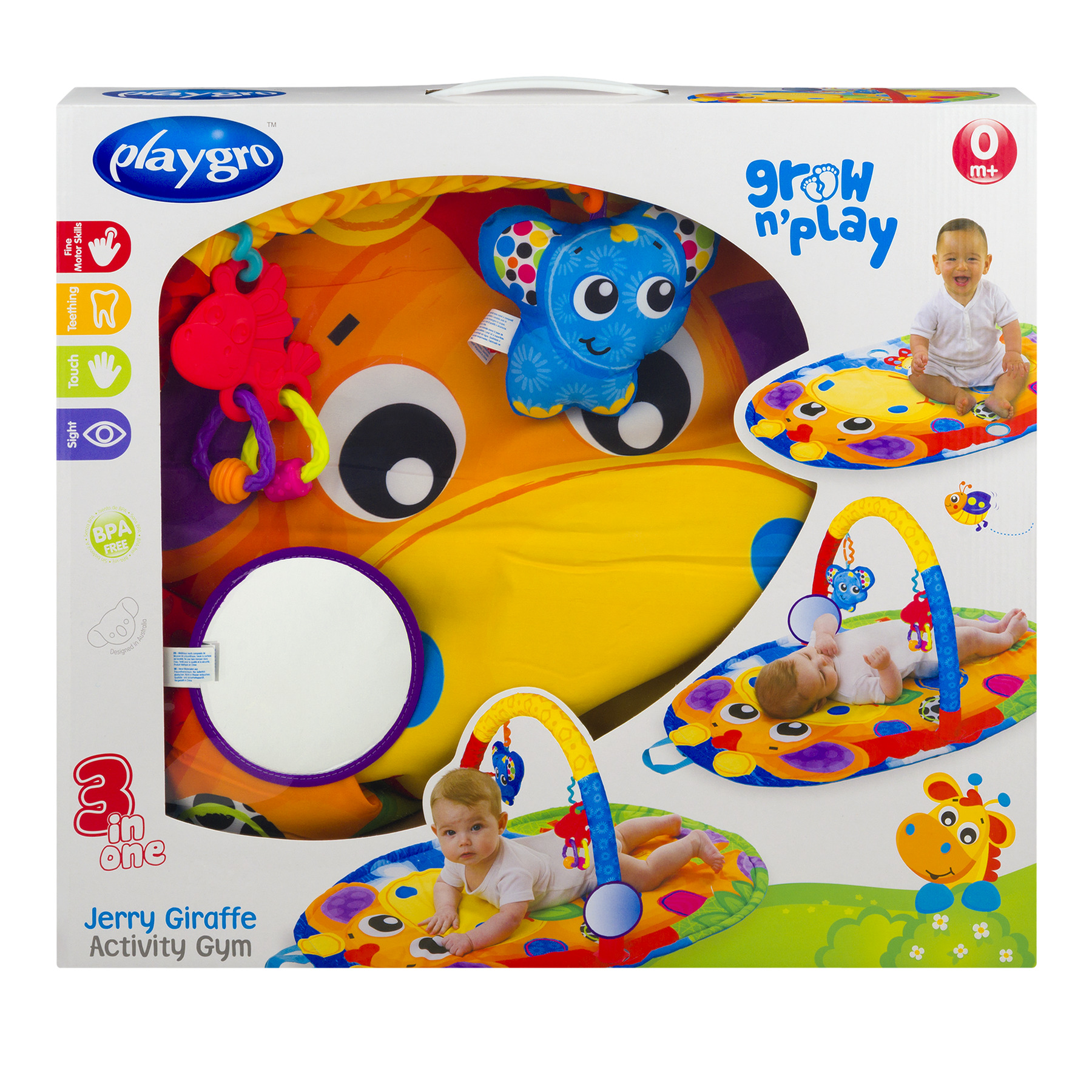 Playgro 3 In 1 Jerry Giraffe Activity Gym 0m+, 1.0 CT