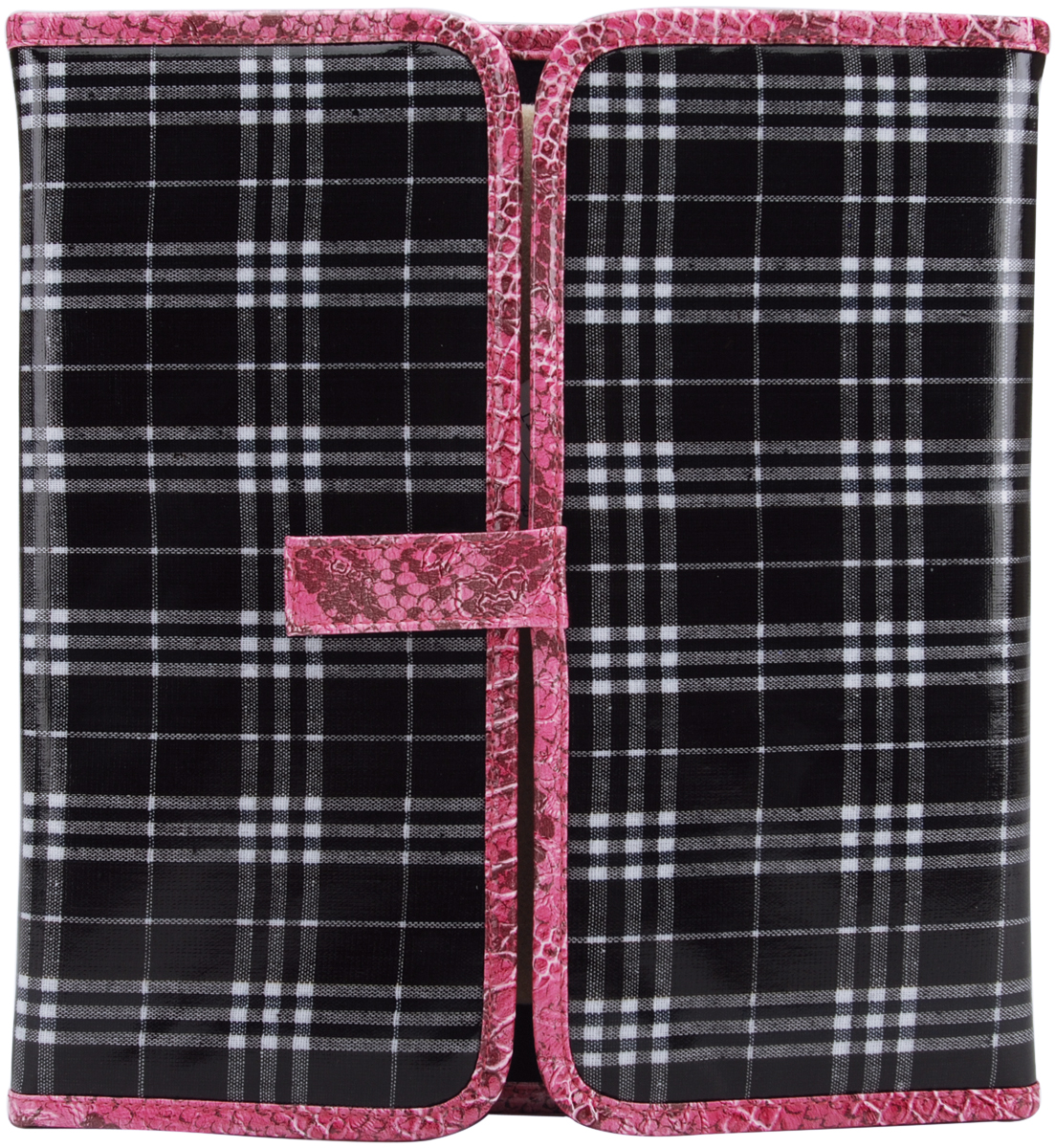 Lap Bead Case 11.5 Inch X 12 Inch X.75 Inch-Plaid