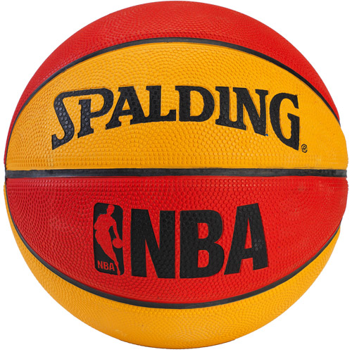 "Spalding 7"" NBA Mini Basketball, Red/Orange"