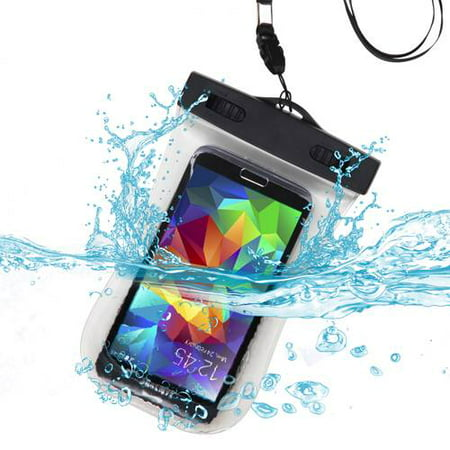 Premium Waterproof Sports Swimming Waterproof Water Resistant Armband Case Bag Pouch for BLU W110i (Tank 4.5), D310 (Dash 4.5), A310a (Advance 4.5) (with Lanyard) (T-Clear) + MYNETDEALS Mini Touch Scr (Blu Dash Advance)