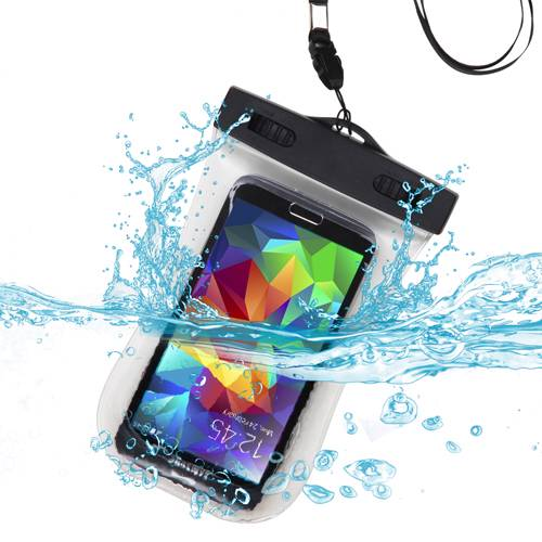 Premium Waterproof Sport Armband Case Bag for AMAZON  Fire phone, iPhone 6 (with Lanyard) (T-Clear) + MYNETDEALS Mini Touch Screen Stylus