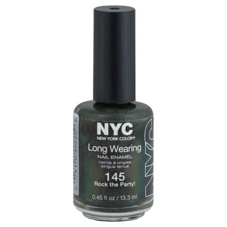 NYC New York Color Long Wearing Nail Enamel, 145 Rock the Party!, 0.45 fl oz](Escape Halloween Party Nyc)