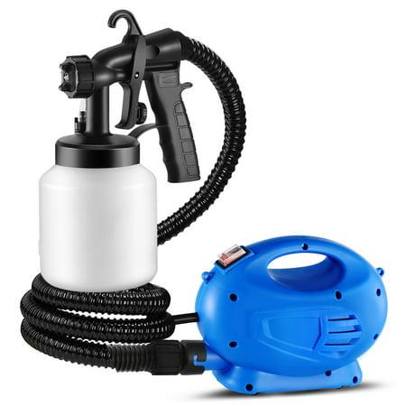 800ML Paint Spray Painter 650W Paint Sprayer Machine HVLP Oil Primer Water Sprayer w/ 3 Spraying Patterns Motor Strap Detachable Container ()