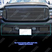Fits 99-04 Ford F250/F350 Super Duty Bumper Billet Grille