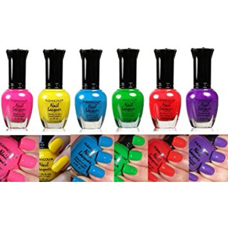 Kleancolor Collection- 'NEON' Nail Polish 6pc Set (Best Place To Store Nail Polish)