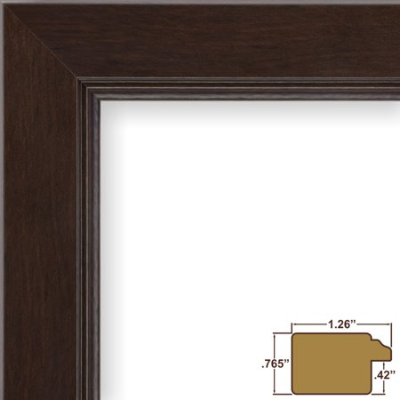 Craig Frames Mossehaus N, Dark Brown Coffee Bean Picture Frame, 12 x ...