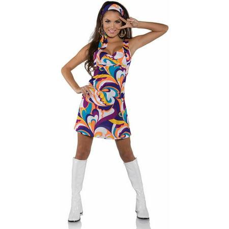 Peace Hippie Dress Women's Adult Halloween Costume](Peace Out Halloween Costume)