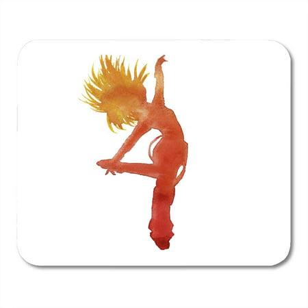 KDAGR Girl Black Dance Dancer in Hip Hop Insulated Watercolor Technique White Hiphop Music Mousepad Mouse Pad Mouse Mat 9x10