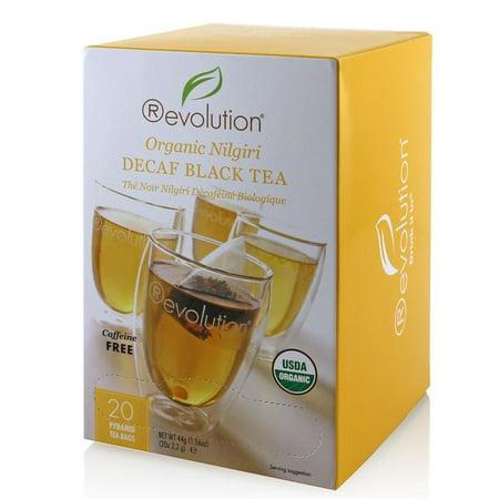 Revolution Tea 80-7050 Organic Nilgiri Decaf Black 6-20 Count (Revolution Tea Variety)