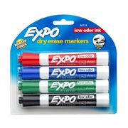 Expo Chisel Dry Erase Marker Asst 4+2ct