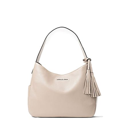 6454d2cbc11f Michael Kors - Michael Kors Ashbury Large Leather Shoulder Bag - Bisque -  Walmart.com