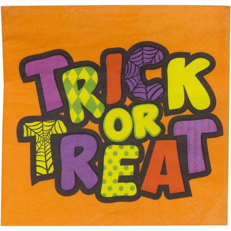 Candy Trick-Or-Treat Halloween Party Lunch Napkins, 18ct