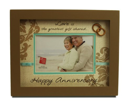 Russ Berrie Happy Anniversary Shadowbox Picture Frame by Russ Berrie