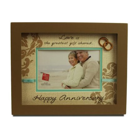 Russ Berrie Happy Anniversary Shadowbox Picture Frame