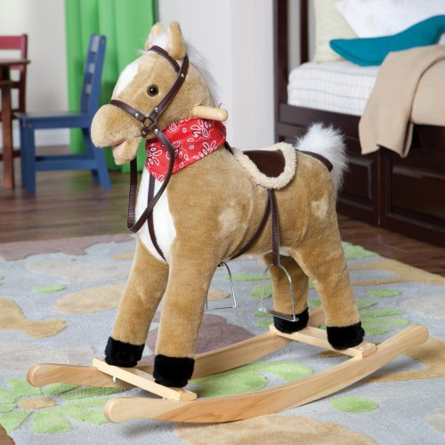 Charm Blonde Rocking Horse with Movement and Sounds