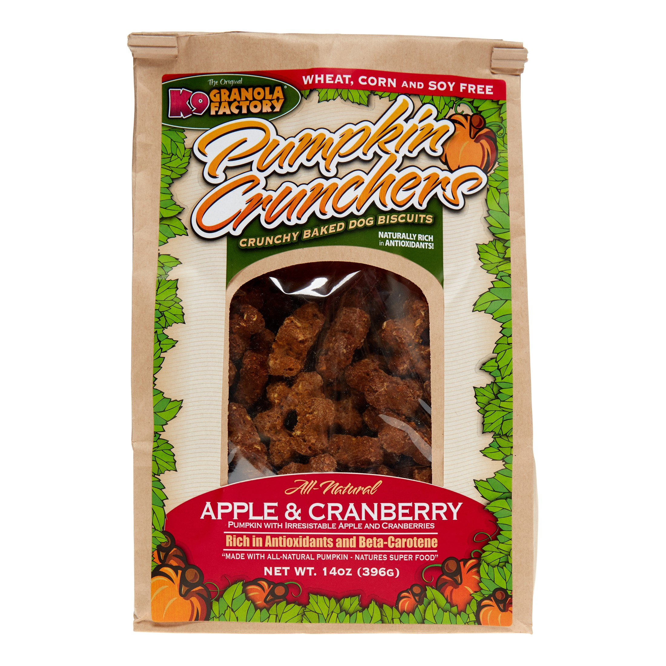 K9 Granola Pumpkin Crunchers Apple Cranberry Dog Treats