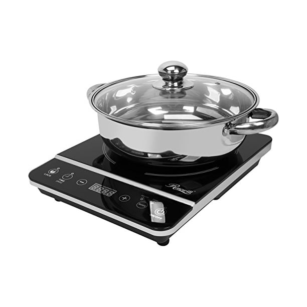RHAI-13001 1800W Induction Cooker Cooktop with Stainless Steel Pot, Black Non-Programmed, Fast shipping,Brand Shure