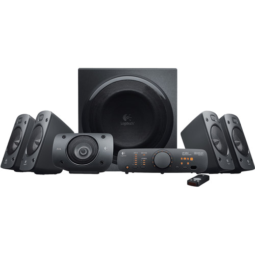 Logitech 5.1-Channel 500W Dolby Surround Subwoofer, Black by Logitech