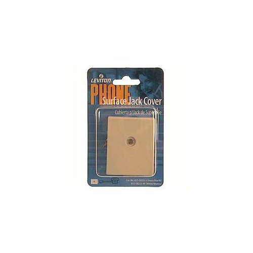 Leviton C0255-W White Surface Mount 6P4C Telephone Jack Cover