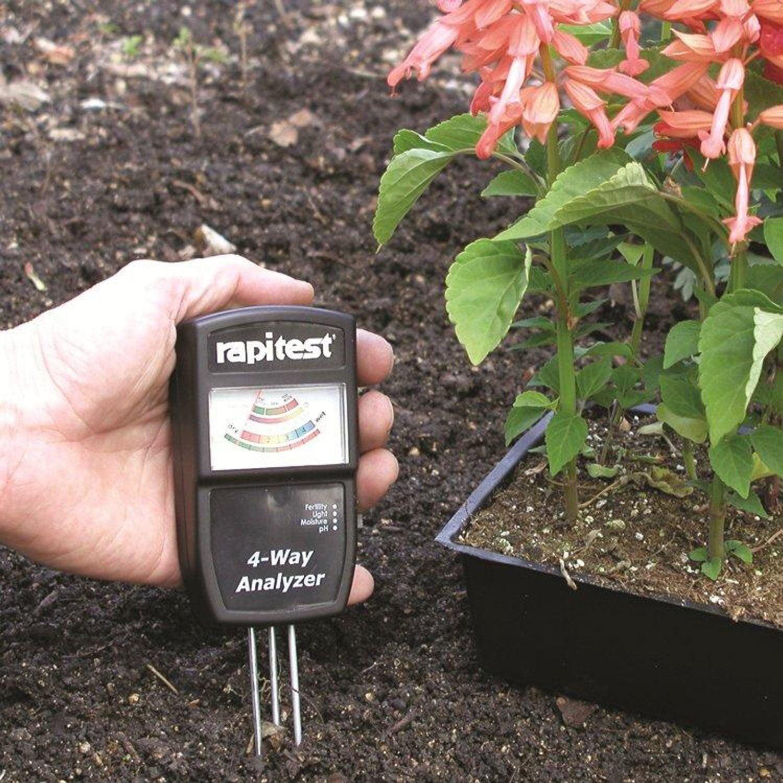 RAPITEST 4-Way Analyzer LUSTER LEAF 1880 Soil MOISTURE PH...