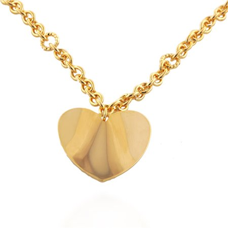 necklace pendantnecklace heart flat gold yellow pendant coin roberto