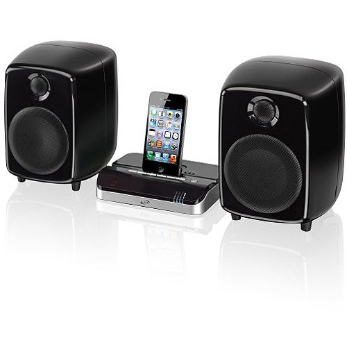 iLive ISDB752B Bluetooth Dock and Speakers for iPod/iPhone/iPad, Black