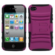 Advanced Armor Rugged Protector Cover Case w/Kick Stand for iPhone 4 4S