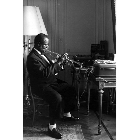Louis Armstrong Print Wall Art By Globe Photos
